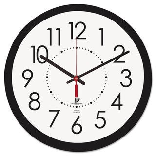 Chicago Lighthouse Electric Contemporary Clock 14-1/2-inch Black