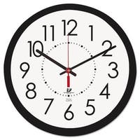 Chicago Lighthouse Electric Contemporary Clock 14.5-in Black - 14.5 x 1.8 x 14.5