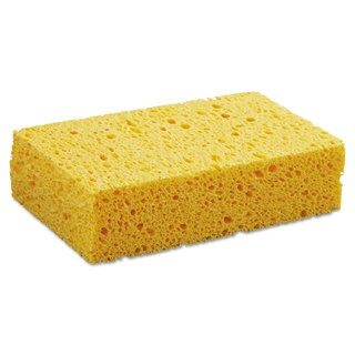 Boardwalk Medium Cellulose Sponge 3 2/3 x 6 2/25 inches 1 11/20 inches Thick Yellow 24/Carton
