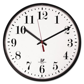 Chicago Lighthouse Quartz Slimline Clock with Protective Cover 12-3/4-inch Black