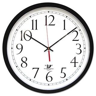 Chicago Lighthouse SelfSet Wall Clock 14-1/2-inch Black