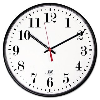 Chicago Lighthouse Quartz Slimline Clock 12-3/4-inch Black