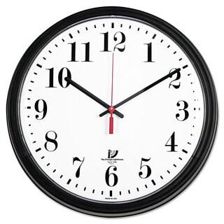 Chicago Lighthouse Black Quartz Contract Clock 13-3/4-inch Black