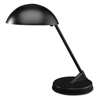 Ledu Incandescent Desk Lamp with Vented Dome Shade 18-inch Reach Matte Black