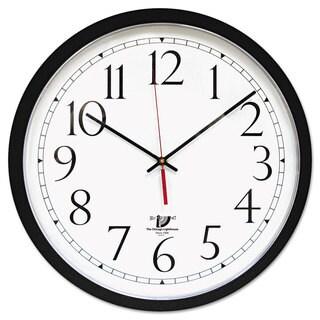 Chicago Lighthouse SelfSet Wall Clock 16-1/2-inch Black