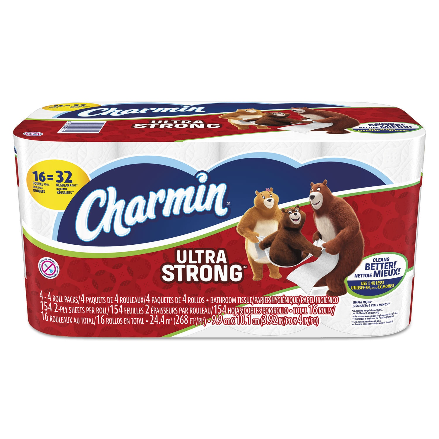 Charmin Ultra Strong Bathroom Tissue 2-Ply White 154 Shee...