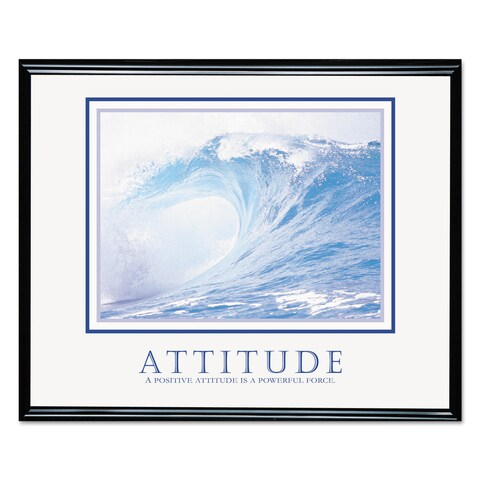 Advantus 'Attitude/Wave' Framed Motivational Print 30 x 24