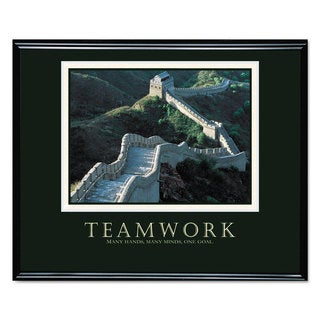 Advantus inchesTeamwork inches (Great Wall Of China) Framed Motivational Print 30 x 24