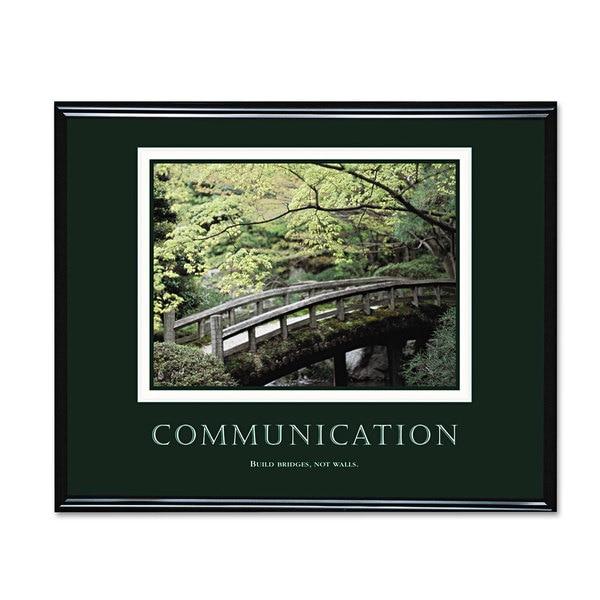 Advantus 'Communication' Framed Motivational Print 30 x 24