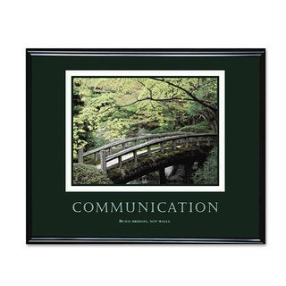 Advantus 'Communication' Framed Motivational Print 30 x 24