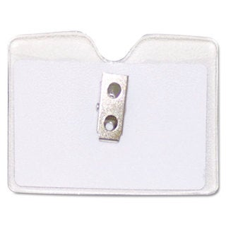 Advantus Security ID Badge Holder Horizontal 3 1/2-inch wide x 2 1/2-inch high Clear 50/Box