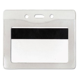 Advantus Security ID Badge Holder Horizontal 3 7/8-inch wide x 2 5/8-inch high Clear 50/Box