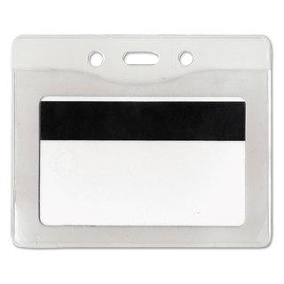 Advantus Security ID Badge Holder Horizontal 3 7/8-inch wide x 2 5/8-inch high Clear 50/Box