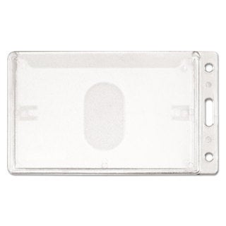 Link to Advantus Frosted Rigid Badge Holder Clear Vertical 25/Box Similar Items in Badges, Names & Signs