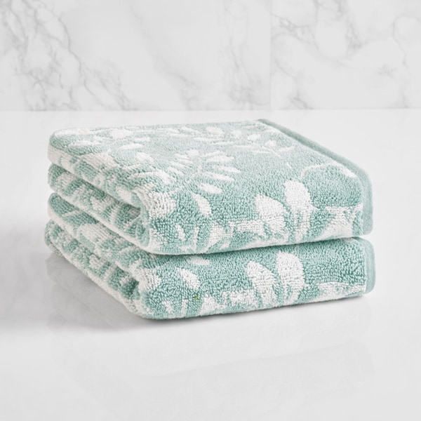 LOFT by Loftex Floral Block Jacquard Hand Towel. Opens flyout.