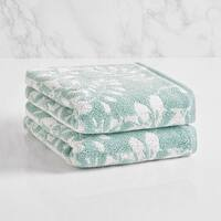 LOFT by Loftex Floral Block Jacquard Hand Towel (set of 2)
