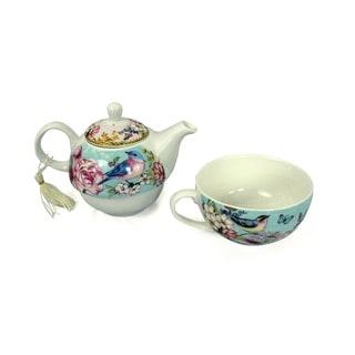 Blue Bird Porcelain Tea for One with Keepsake Box