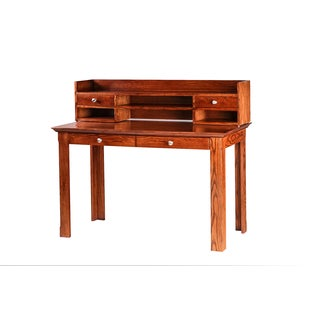 Forest Designs Writing Desk with Drawers and Hutch
