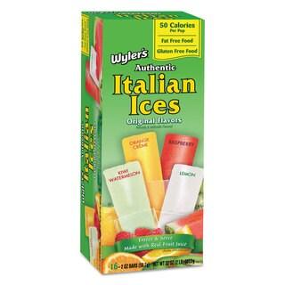Wyler's Italian Ices Italian Ices Freezer Bars Assorted Fruit Flavors 2 -ounce 16/Box 8 Box/Carton
