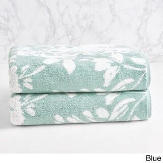 LOFT by Loftex Floral Block Jacquard Bath Towel