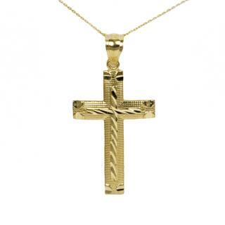 10k Yellow Gold Diamond Cut Cross Pendant|https://ak1.ostkcdn.com/images/products/13866718/P20507058.jpg?impolicy=medium