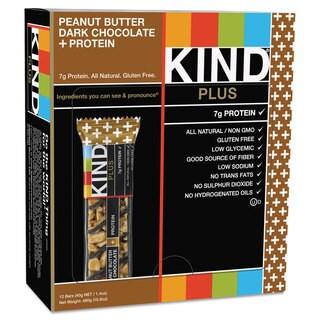 KIND Plus Nutrition Boost Bar Peanut Butter Dark Chocolate/Protein 1.4 -ounce 12/Box