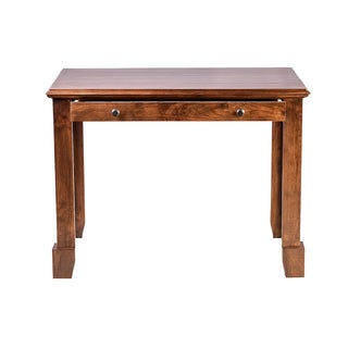 Forest Designs Shaker Alder Writing Desk With Drawers and Black Knobs