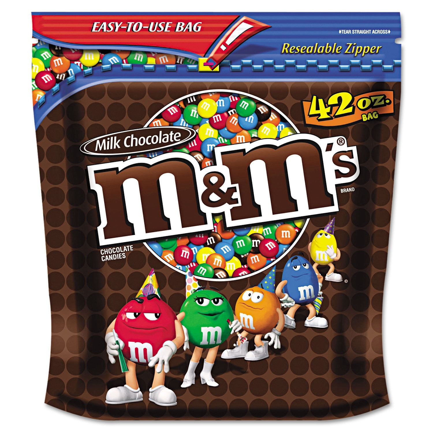 M&M's Milk Chocolate (Brown) with Candy Coating 42-ounce ...