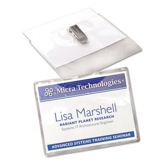Avery Badge Holder Kit with Laser/Inkjet Insert Top Load 3 x 4 White 40/Box
