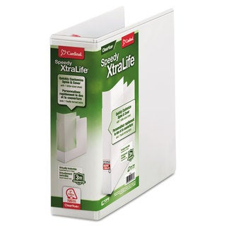 Cardinal Speedy XtraLife Non-Stick Locking Slant-D Ring Binder 3 inches Capacity 11 x 8 1/2 White