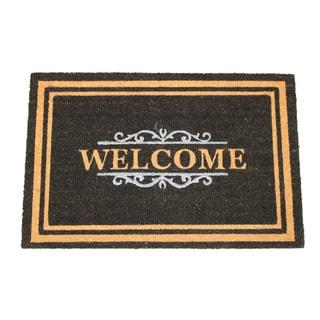 Black Coir 24-inch x 36-inch Gated Welcome Doormat