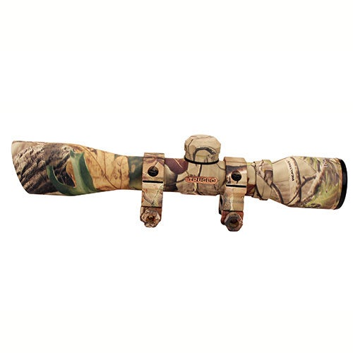 TruGlo Camo 4 x 32 Rifle Scope With Rings and Diamond Ballistic Reticle