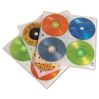 Case Logic Two-Sided CD Storage Sleeves for Ring Binder 25/Pack