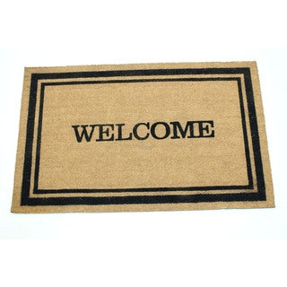 Coir 24-inch x 36-inch Welcome with Frame Doormat