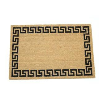 Coir 24-inch x 36-inch Greek Key Border Doormat