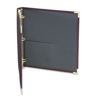 Samsill Classic Collection Ring Binder 11 x 8 1/2 1-inch Capacity Burgundy