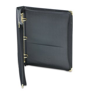Samsill Classic Collection Zippered Ring Binder 11 x 8 1/2 1 1/2 inches Capacity Black