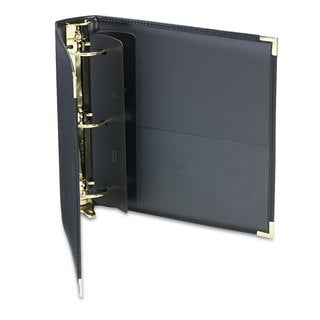 Samsill Classic Collection Ring Binder 11 x 8 1/2 2-inch Capacity Black