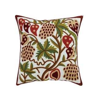 eLIGHT Strawberry Embroidered Cotton Throw Pillow