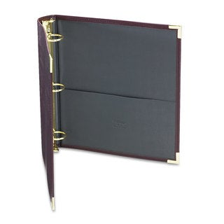 "Samsill Classic Collection Ring Binder, 11 x 8 1/2, 1 1/2"" Cap, Burgundy"