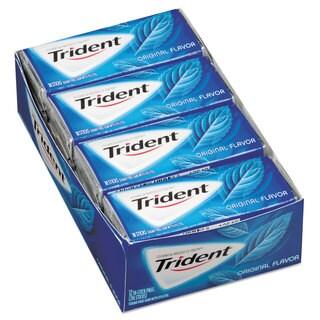 Trident Sugar-Free Gum Original Mint 18 Sticks/Pack 12 Pack/Box