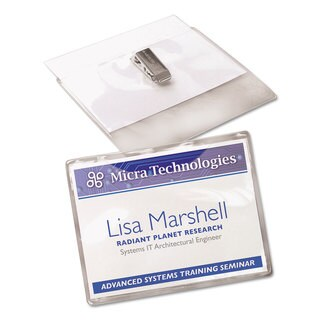 Avery Badge Holder Kit with Laser/Inkjet Insert Top Load 3 x 4 White 100/Box (Option: White)|https://ak1.ostkcdn.com/images/products/13866858/P20507225.jpg?_ostk_perf_=percv&impolicy=medium