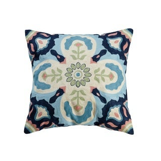 eLIGHT Ishild Embroidered Cotton 18-inch Throw Pillow