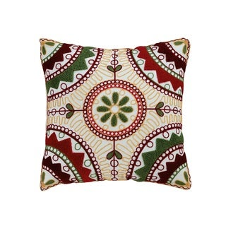 ELight Weston Multicolor Embroidered Cotton Throw Pillow