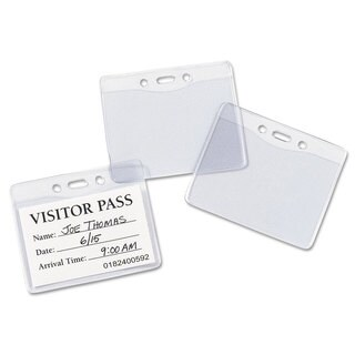 Avery Secure Top Heavy-Duty Badge Holders Horizontal 4-inch wide x 3-inch high Clear 25/Pack