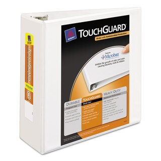 Avery Touchguard Antimicrobial View Binder with Slant Rings 4-inch Capacity White