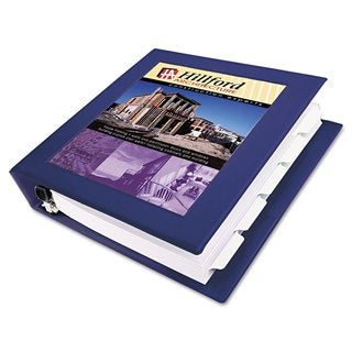Avery Framed View Heavy-Duty Binder with Locking 1-Touch EZD Rings 3-inch Capacity Navy Blue