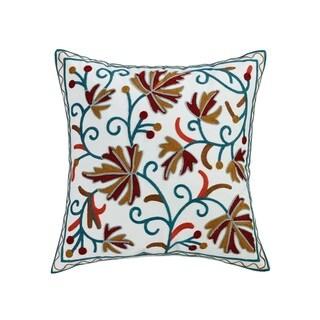 ELight Legolas Multicolor Embroidered Cotton Throw Pillow