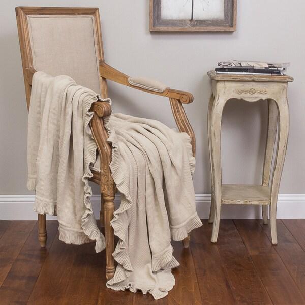 Quarrie Cotton Ruffled Throw