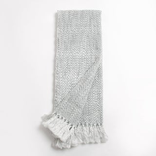 Jace Grey and White Geometric Cotton Throw
